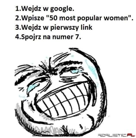50 najpopularniejszych kobiet