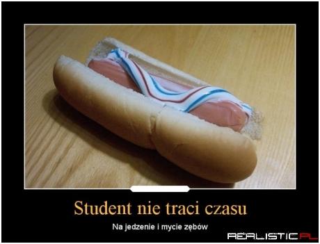 Student nie traci czasu